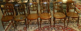 Set Of 6 Antique Cane Side Chairs