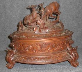 Antique Carved Black Forest Box