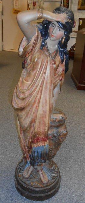 Chalk Sculpture Of An Native American Woman