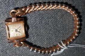 Vintage 14kt Gold Ladies Dreffa Watch