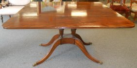 Antique Flame Mahogany Drop Leaf Dining Table