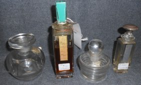 Lot Of 4 Vintage Perfume Bottles