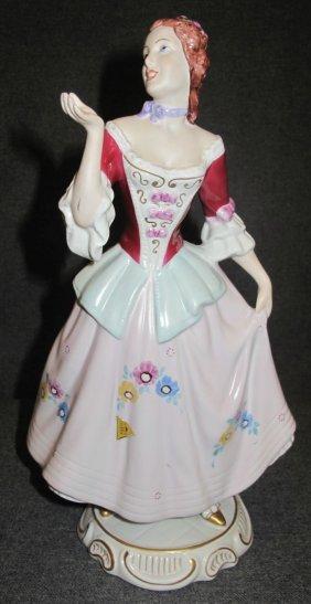 Royal Dux Porcelain Figure Of A Woman