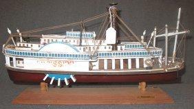 Vintage Model 1850 Mississippi Paddle Boat
