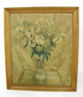 Edward Lintott Floral Still Life Oil Painting