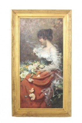 Fabian De La Rosa Oil Painting