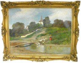 Laszlo Neogrady Hillside Oil Painting