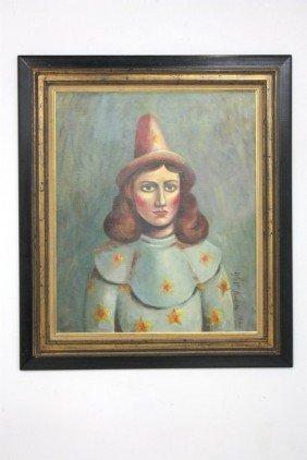 Walt Kuhn Portrait Of A Female Clown Oil Painting