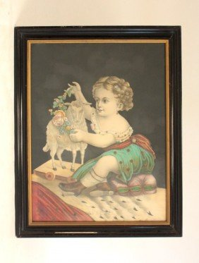 """Victorian Colored Engraving """"Innocence"""""""
