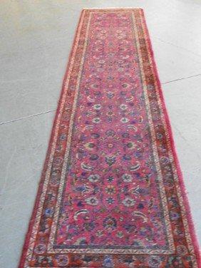 Antique Meschad Oriental Runner Rug