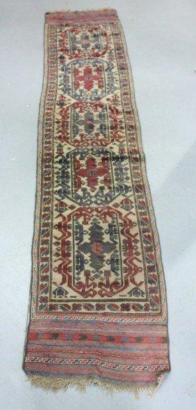 Red Semi-antique Hamedan Handmade Rug