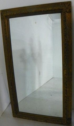 Gilt Colored Frame Mirror.