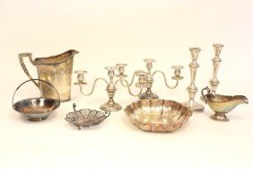 Box Lot Of Silverplate