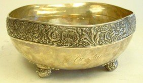 Ornate Sterling Silver Bowl By Gorham 1895