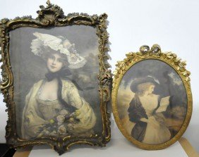 "Two Gilt Carved Frames Of  ""A Lady"""