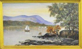Kristina Nemethy Hudson River Oil Painting