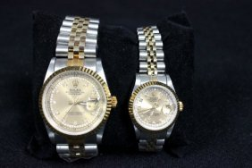 2 Watches Men's & Women's By Rolex