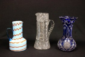 3 Pcs. Assorted Glass