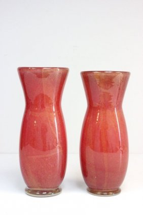 Pair Murano Glass Vases