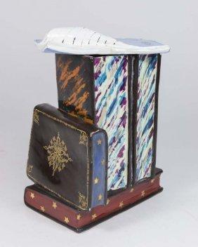 Majorelle Nancy French Ceramic Tobacco Jar