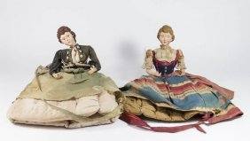 2 Doll Form Tea Cozies