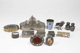 Lot Of Silver & Enamel Pieces