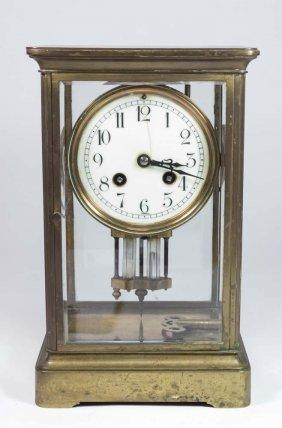 Crystal & Bronze French Regulator Clock