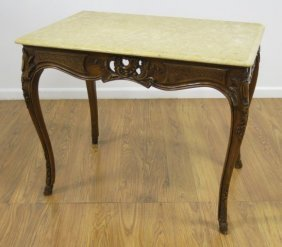 French Provincial Style Walnut Center Table