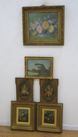 Group Lot Of 6 Oil Paintings