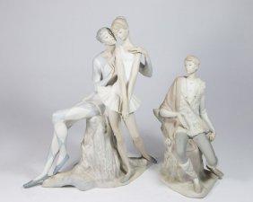 Lladro, Harlequin, Ballerina, & New Shepherd