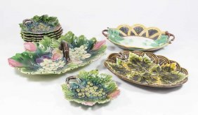 9 Pieces Of Majolica
