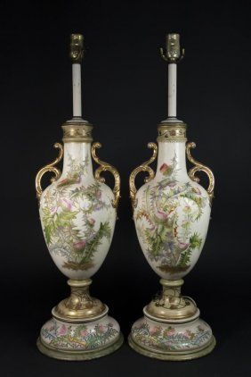 Pair Possibly Rudolstadt Lamps