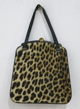 Exotic Spotted Fur Purse