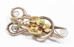 10k Victorian Gold Brooch