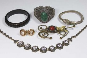 Lot Of Silver Chinese Jewelry & Costume Jewelry