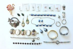 Tray Of Costume & Sterling Jewelry