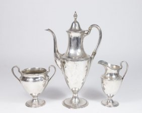 3 Piece Tiffany & Co. Sterling Silver Teaset