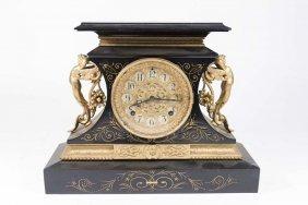 Ansonia Figural Mantle Clock Rosalind