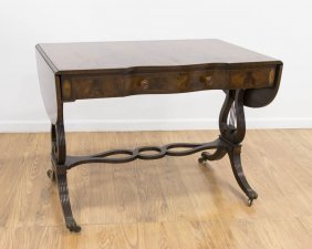 3-drawer Regency Style Banded Sofa Table