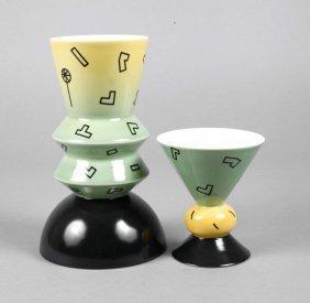 Heide Warlamis Zwei Moderne Vasen