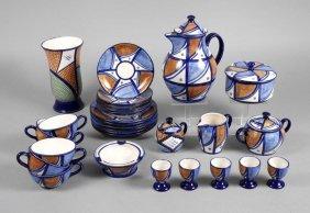 Kaffeeservice Mit Vase Und Aschenbecher