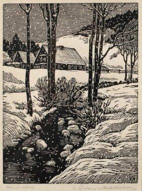 Richard Grimm-sachsenberg, Winterlicher Bachlauf
