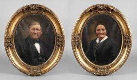 Portrait-pendants Um 1880