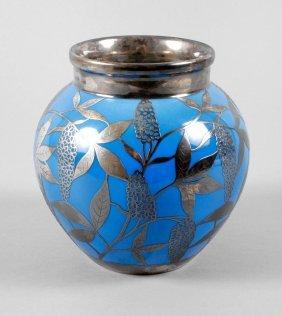 Vase Mit Silberoverlay