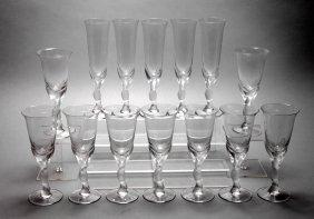 Fabergé Fünf Sektflöten Und Neun Weingläser