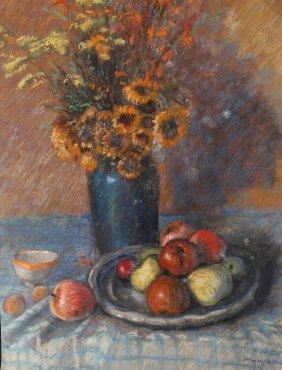 H. Weber, Stillleben Mit Blumen Und Früchten