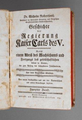 Robertsons Geschichtswerk 1781