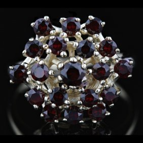 14k White Gold 1.78ct Garnet Ring