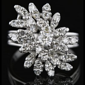 14k White Gold 0.99ct Diamond