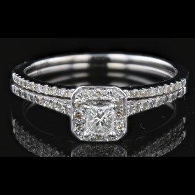 14k White Gold 0.51ct Diamond Ring